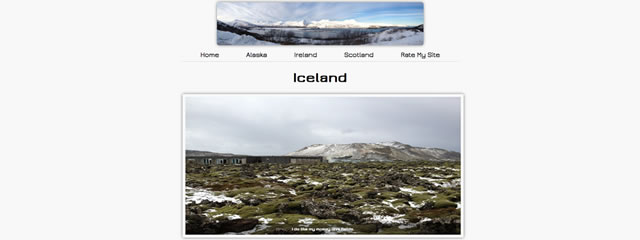 gallery of images taken in Iceland by student